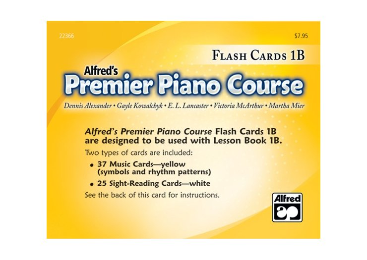 Alfred's Premier Piano Course Level 1B Flash Cards