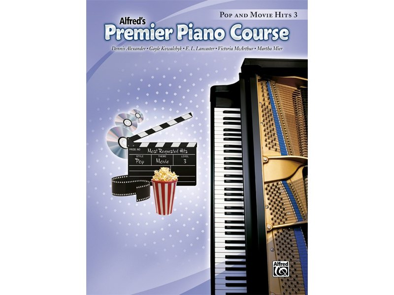Alfred's Premier Piano Course Level 3 Pop and Movie Hits
