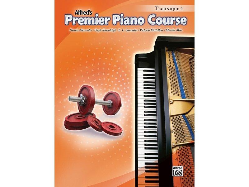 Alfred's Premier Piano Course Level 4 Technique