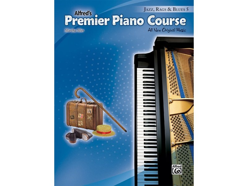 Alfred's Premier Piano Course Level 5 Jazz Rags & Blues
