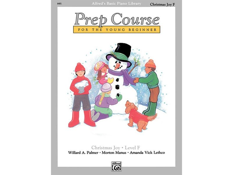 Alfred's Basic Piano Library Prep Course Level F Christmas Joy