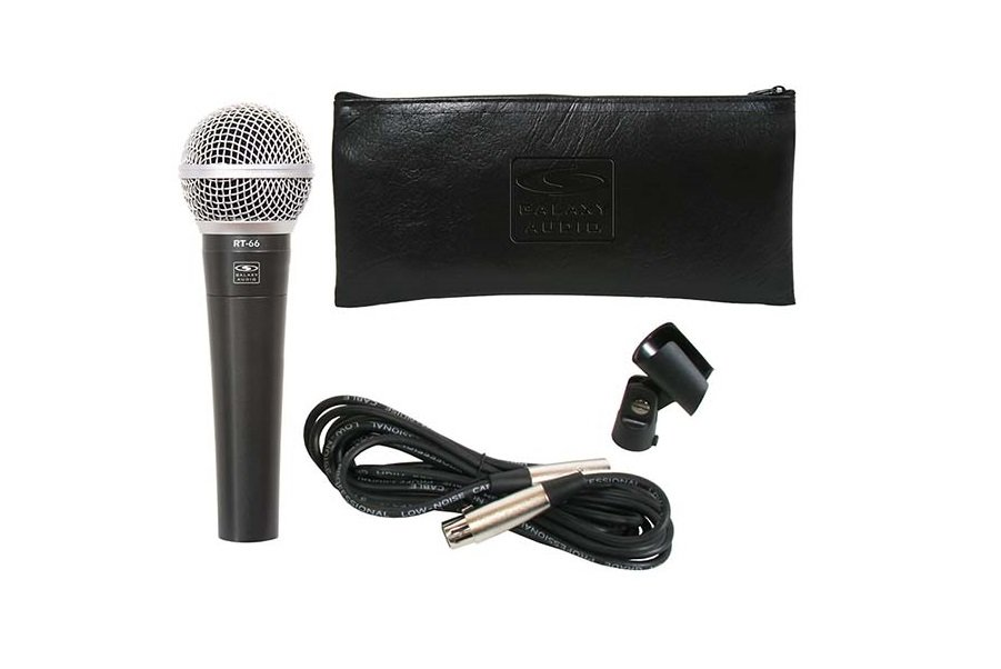 Galaxy Audio Microphone Kit with Cable, Clip, and Bag, Mute Switch