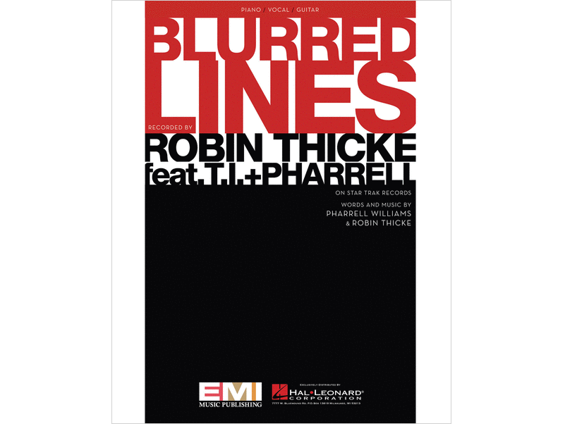 Robin Thicke Blurred Lines Piano/Vocal/Guitar