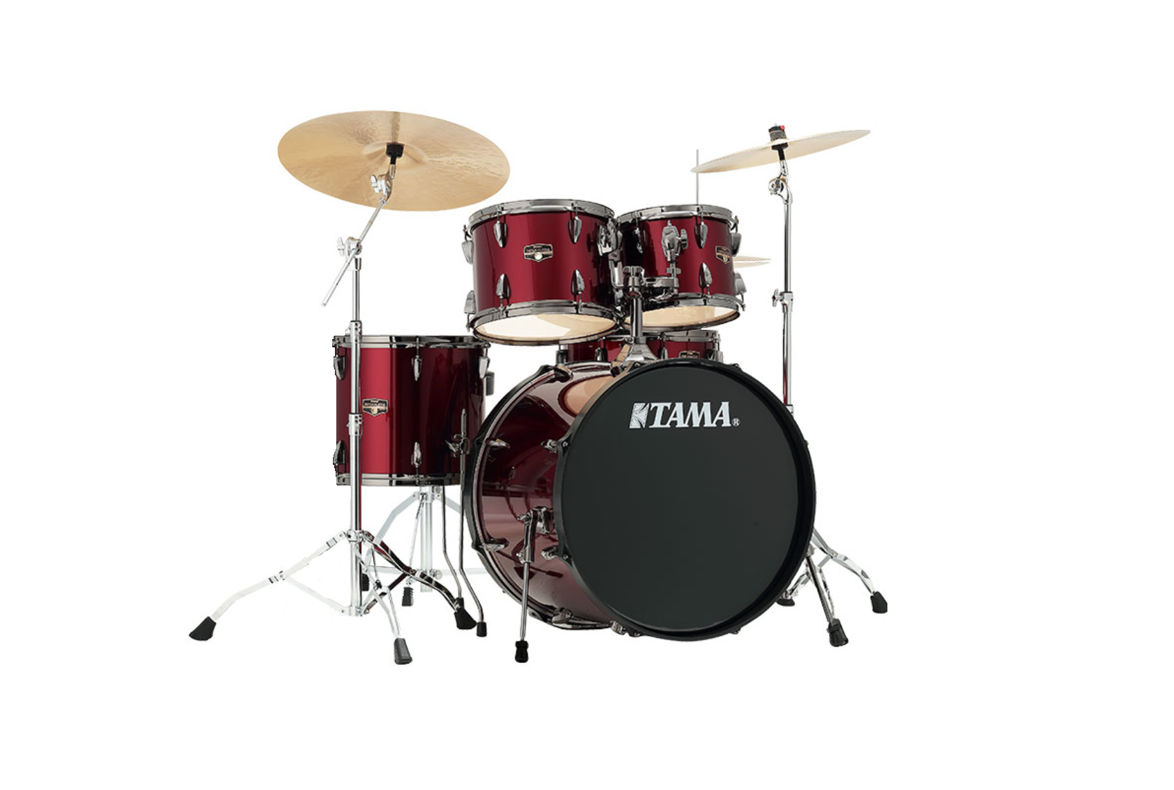 Tama Imperialstar Drum Kit With Stands And Cymbals Vintage Red