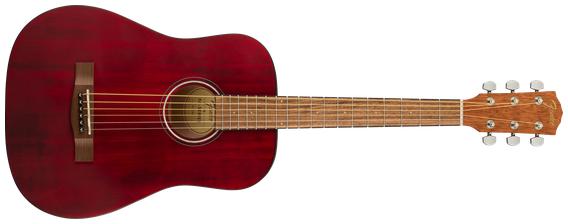 Fender FA-15 3/4 Acoustic Guitar w/Gig Bag, Walnut Fingerboard, Red