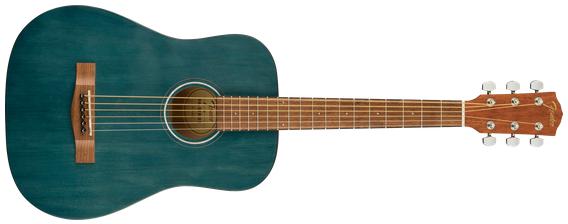 Fender FA-15 3/4 Acoustic Guitar w/Gig Bag, Walnut Fingerboard, Blue