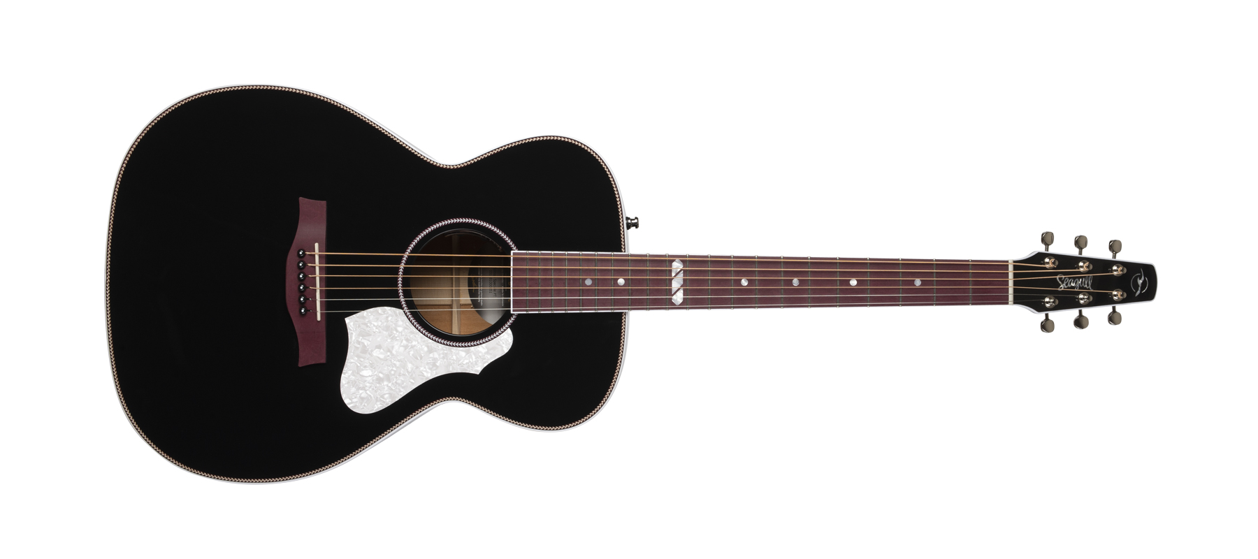 Seagull Artist Limited Tuxedo Black with Tric Case