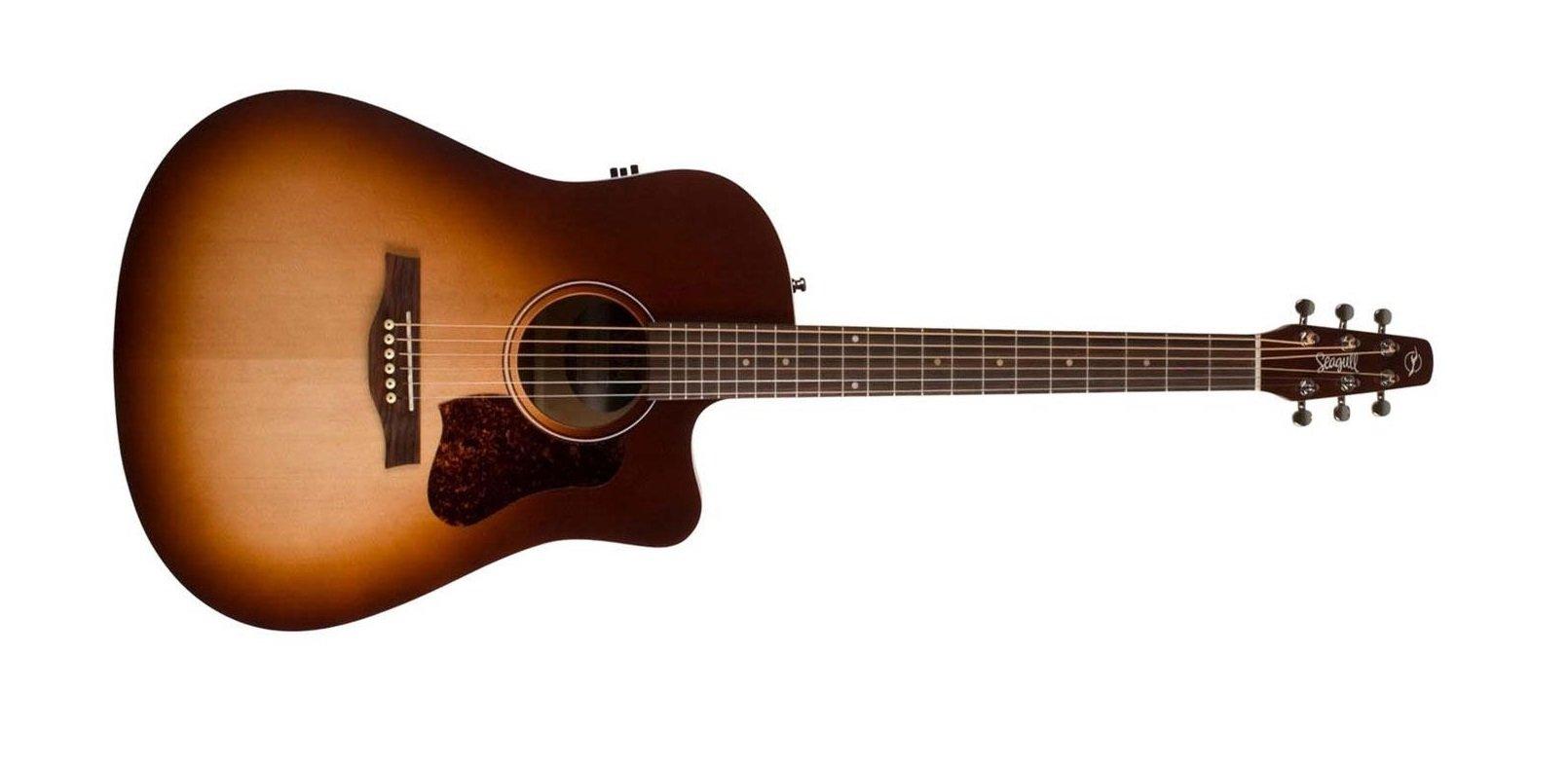 Seagull Entourage CW QI Acoustic Electric Guitar, Autumn Burst
