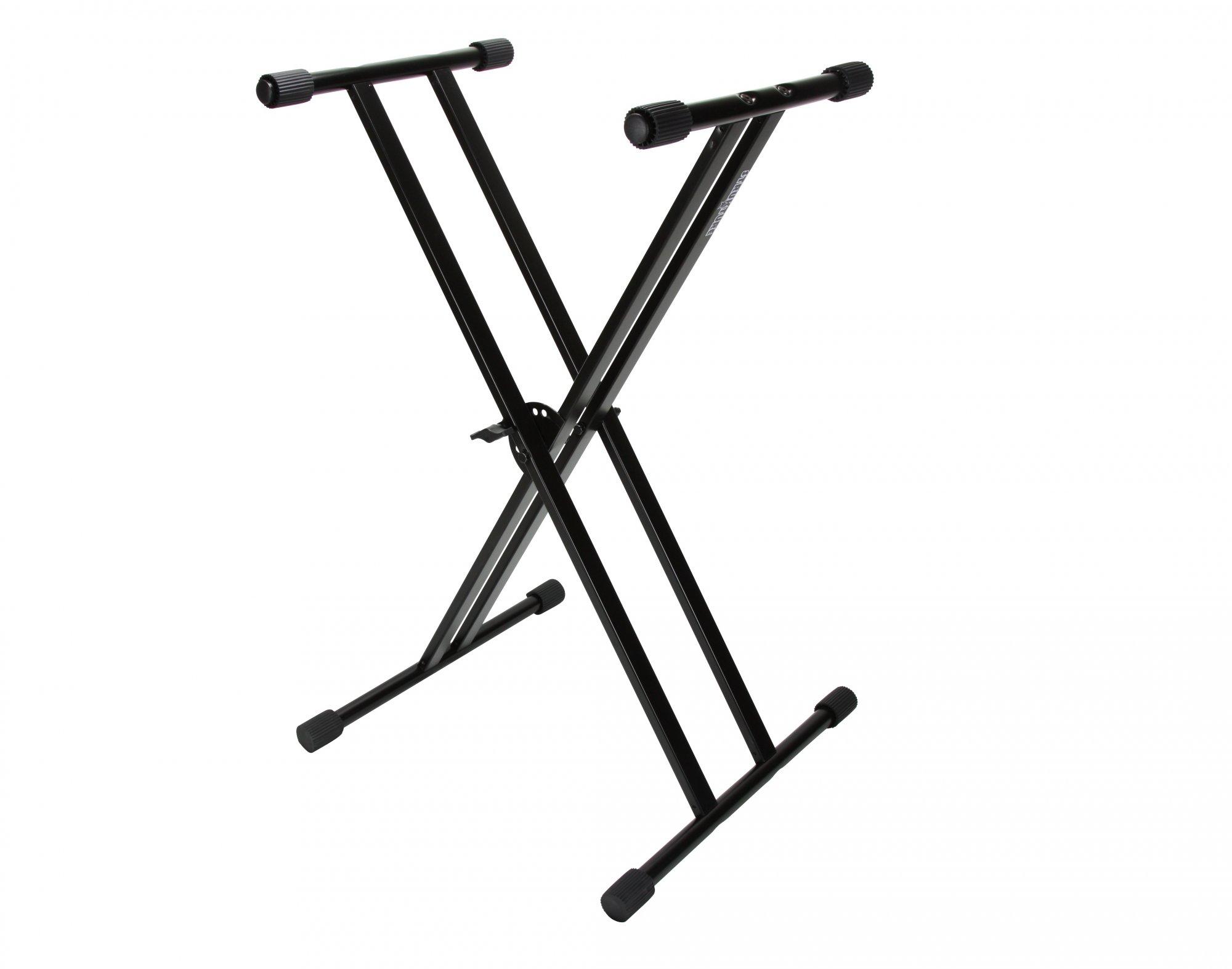 Strukture Economy Knockdown Double Braced Keyboard Stand, Black