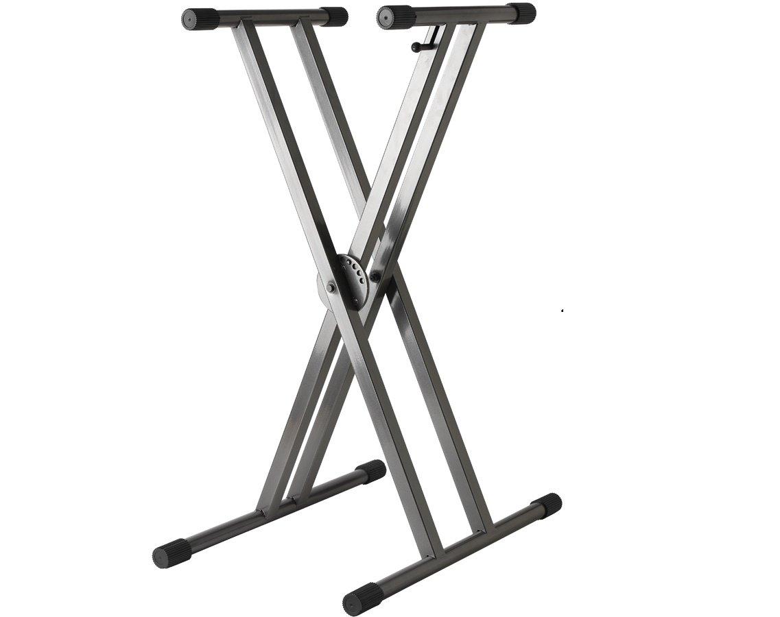 Strukture Keyboard Stand Double Braced Gun Metal SK2X-GM