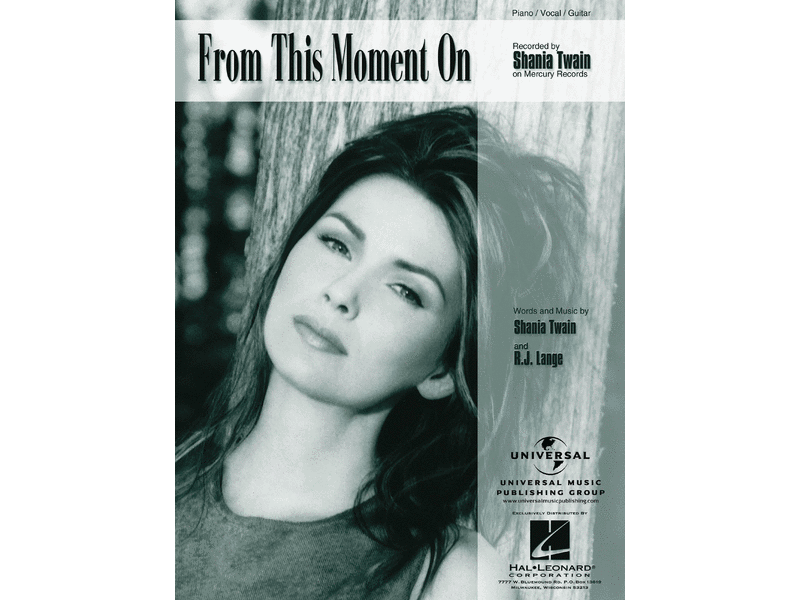 Shania Twain From This Moment On Piano/Vocal/Guitar