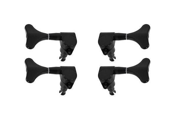 Stagg 2+2 Electric Bass Tuners, Black
