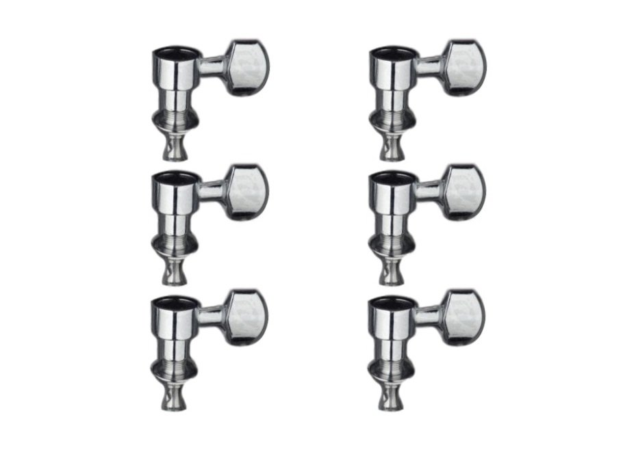 Stagg Inline Screwless Electric Guitar Tuners, Chrome