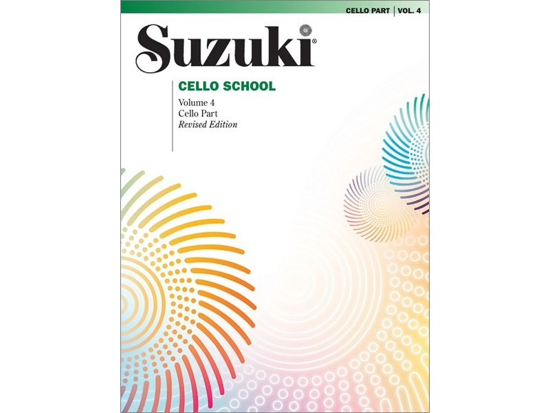 Suzuki Cello School Volume 4 - Revised Edition