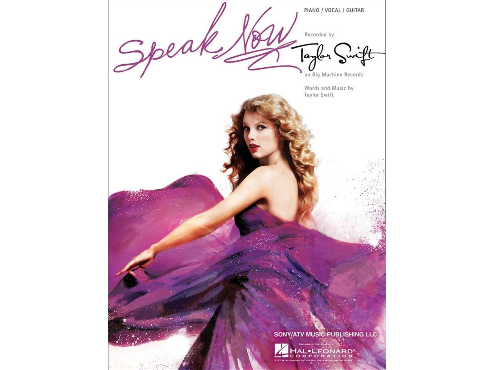 Taylor Swift Speak Now Single Pianovocalguitar 884088546830