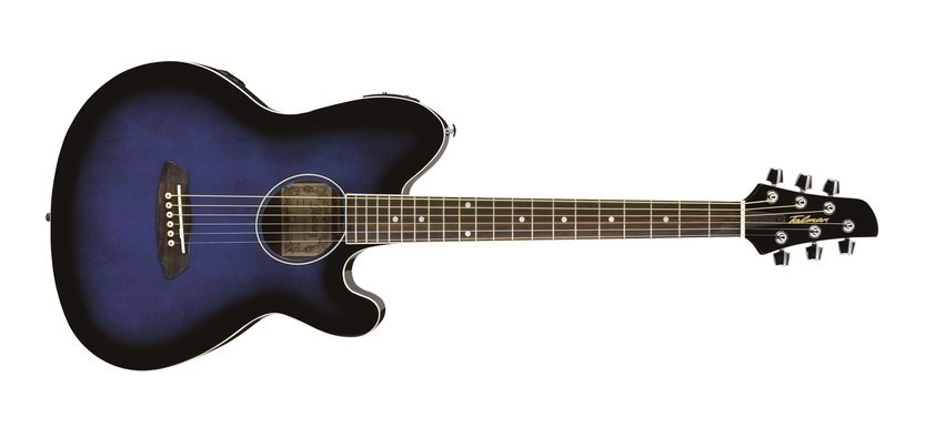 Ibanez TCY10ETBS Talman Acoustic Electric Guitar, Trans Blue Burst