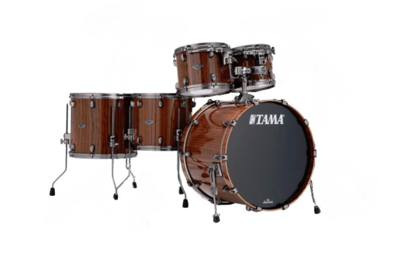 Tama Starclassic Performer Birch/Bubinga 5pc Shell Pack, Gloss Natural Tigerwood