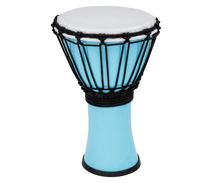Toca Freestyle Colorsound Rope-Tuned 7 Djembe, Pastel Blue