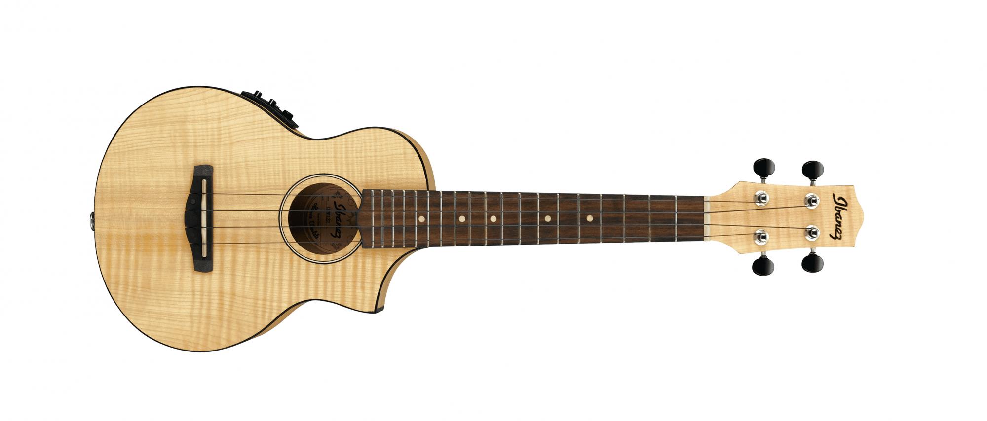 Ibanez UEW12E Acoustic Electric Ukulele, Flame Maple