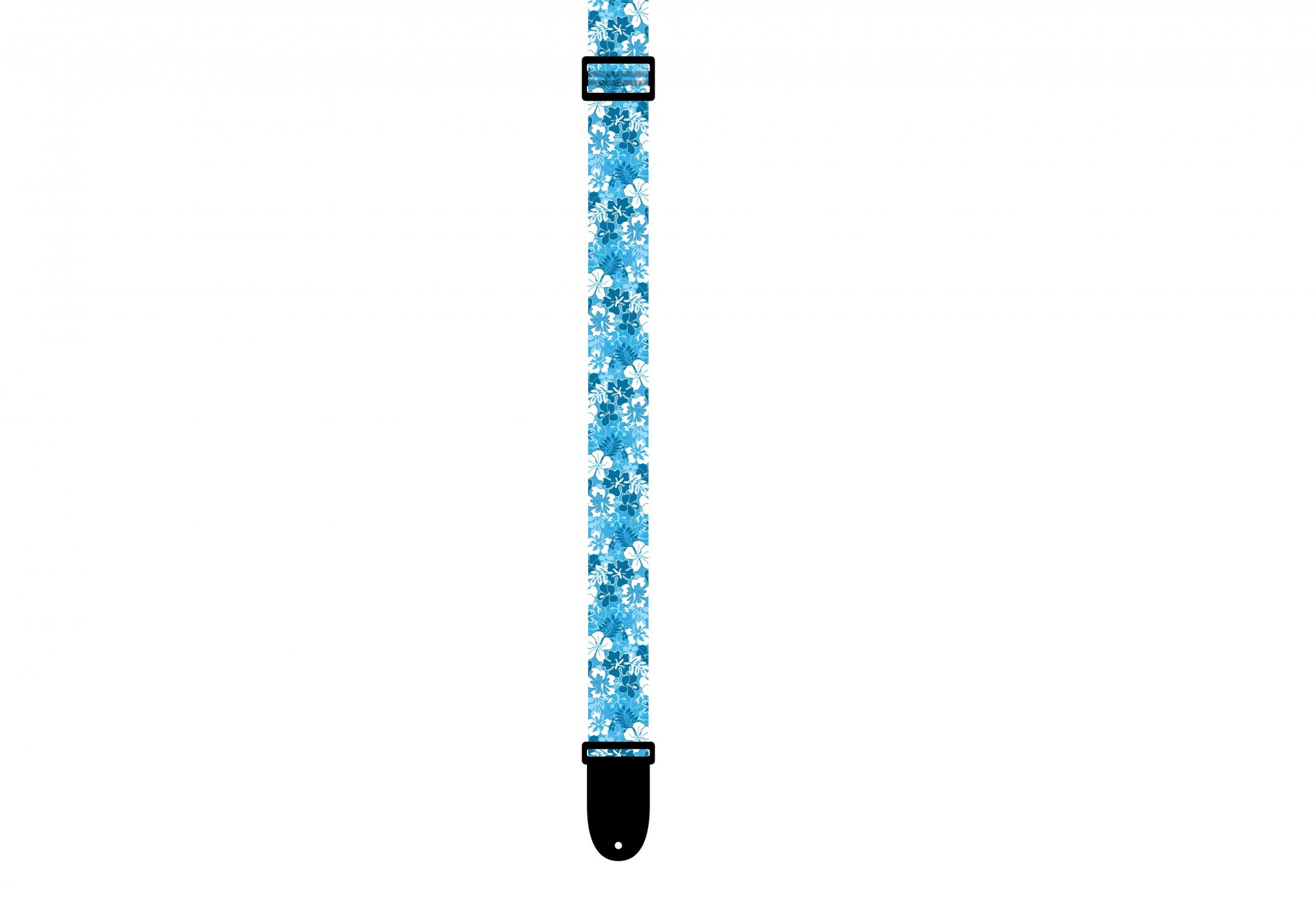 Perri's Luau Uke Strap, Polyester, Floral Blue