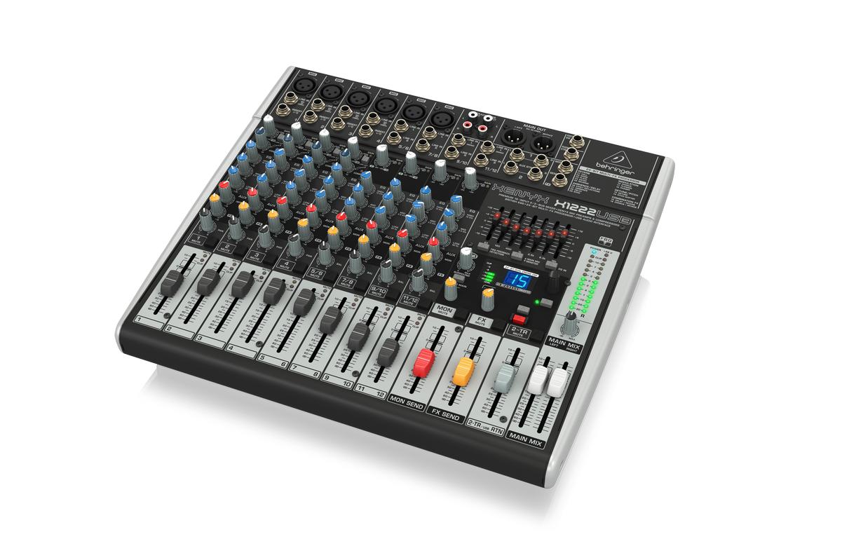 Behringer XENYX X1222USB 16 Input Audio Mixer