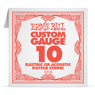 Ernie Ball Plain Steel Electric and Acoustic Single Strings