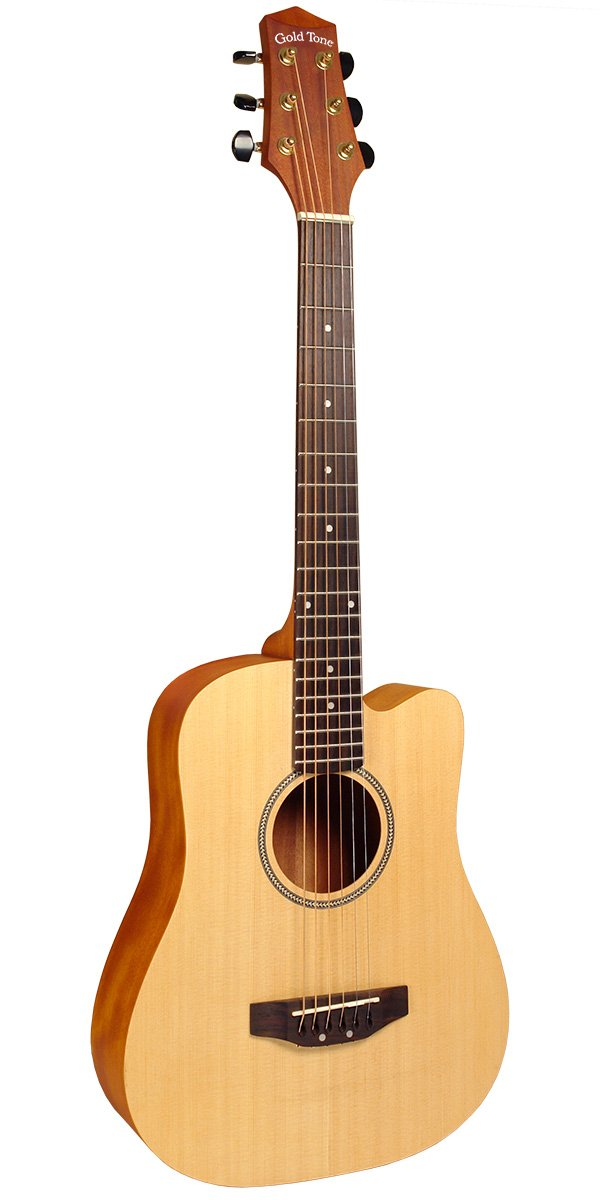 Gold Tone M-Guitar: Acoustic-Electric Micro-Guitar with Gig Bag