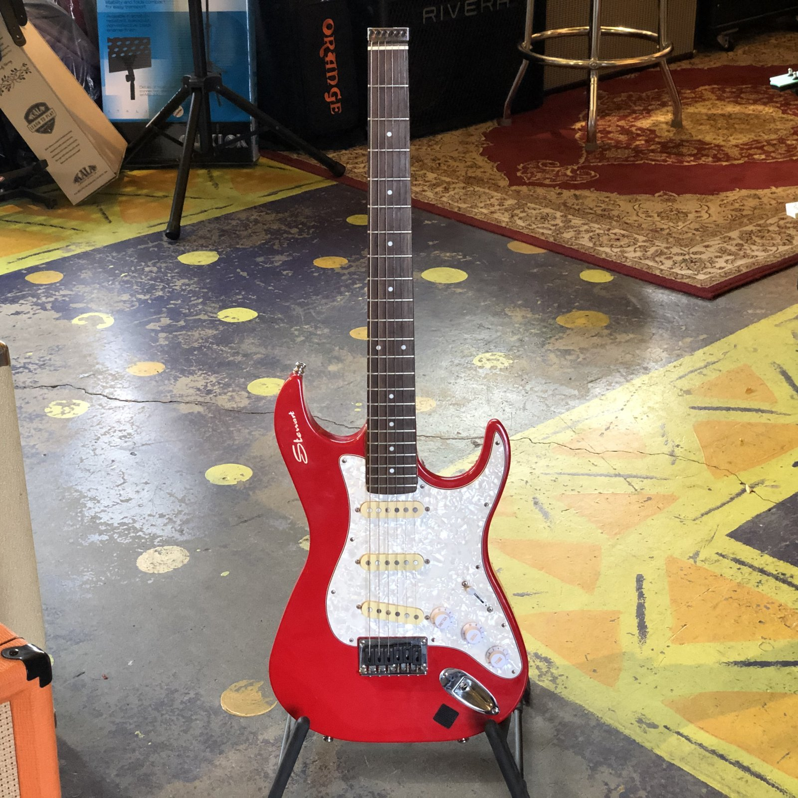 Used Stewart Stow Away Travel Guitar