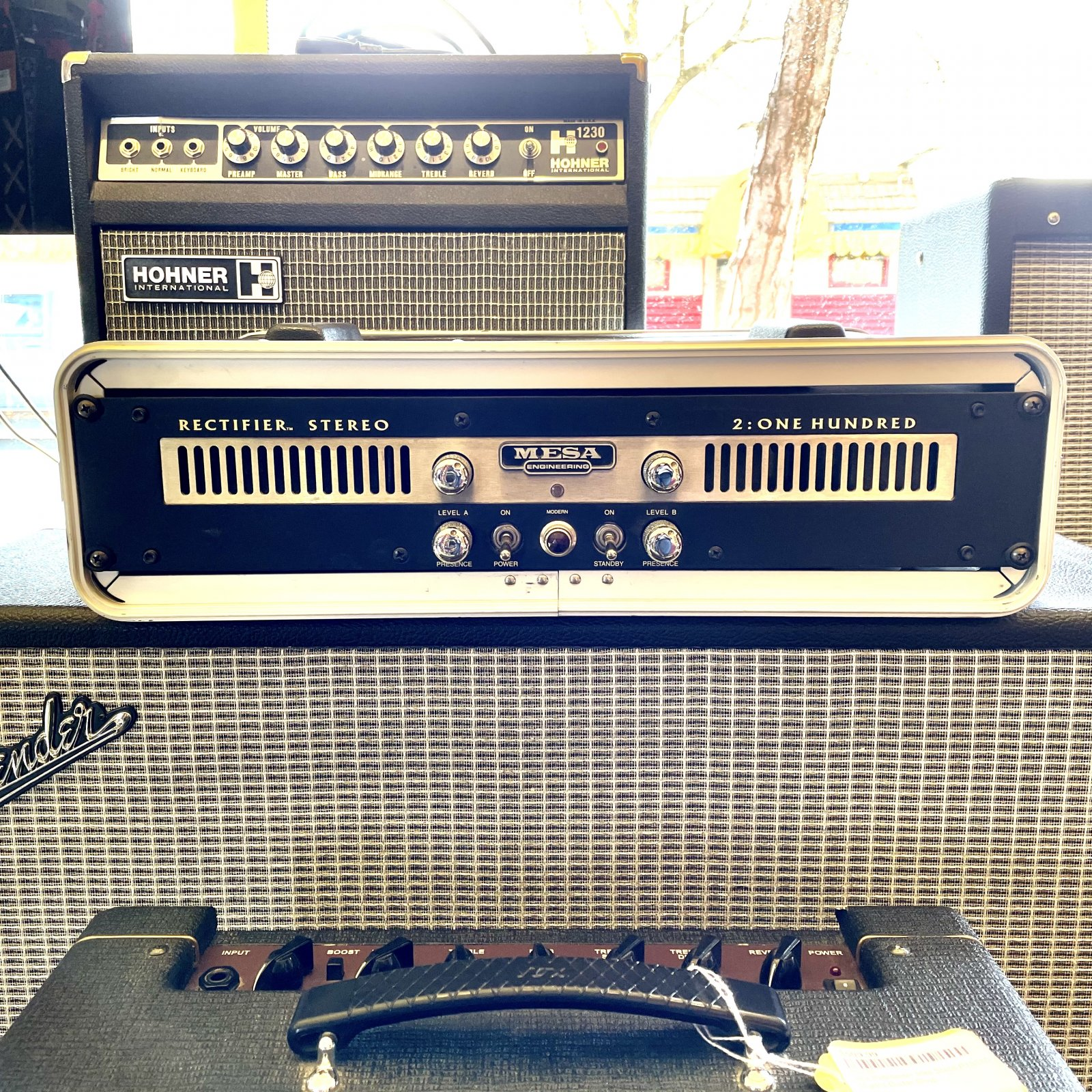 Mesa Boogie Rectifier Stereo 2: One Hundred Power Amp w/Rack Case