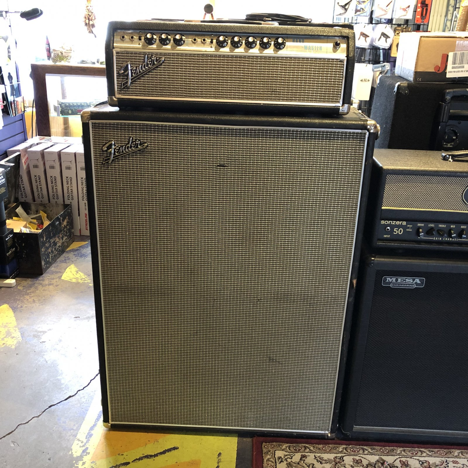 Used Fender Silverface Band Master w/2x12 cab