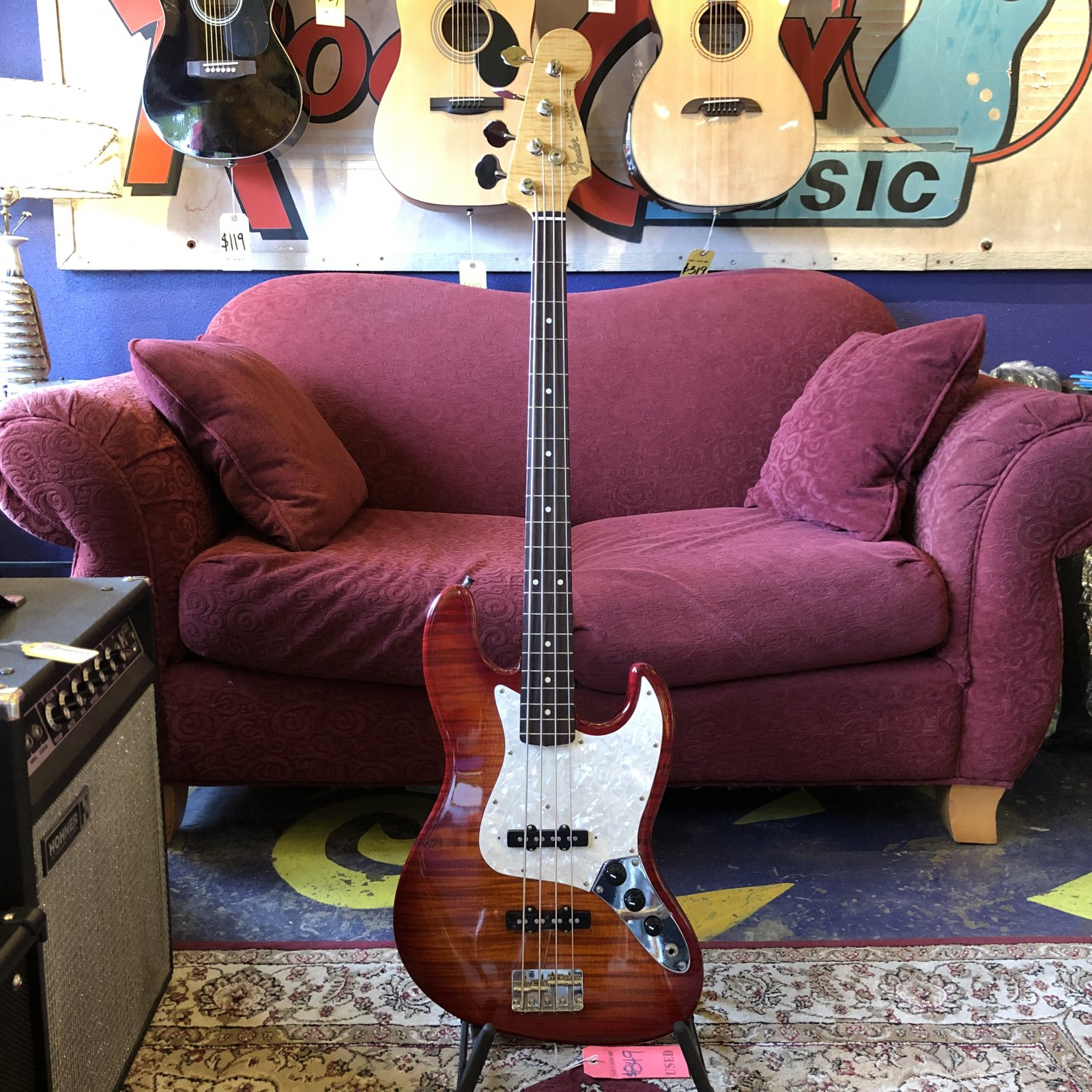 Used Fender Foto Flame Jazz Bass