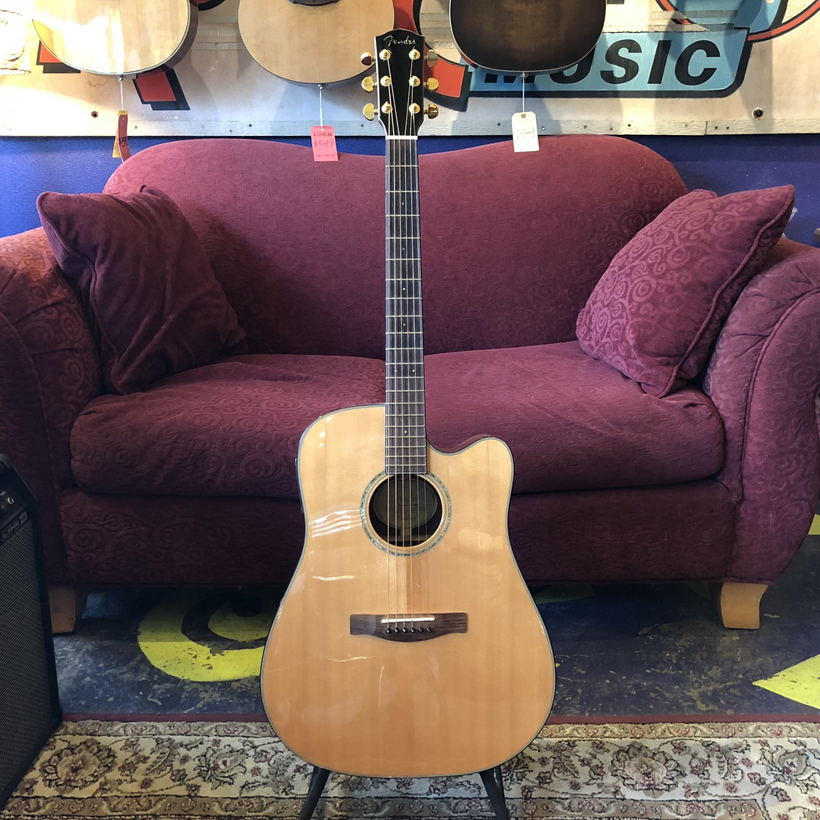 Used Fender GD-47SCE Dreadnought Acoustic Electric