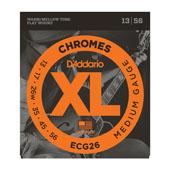 D'Addario XL Chromes Flat Wound Electric Strings