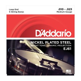 D'addario Nickel Plated Steel Banjo Strings