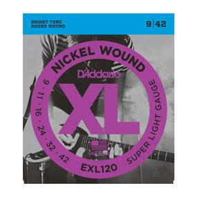 D'Addario XL Nickel Round Wound Electric Guitar Strings