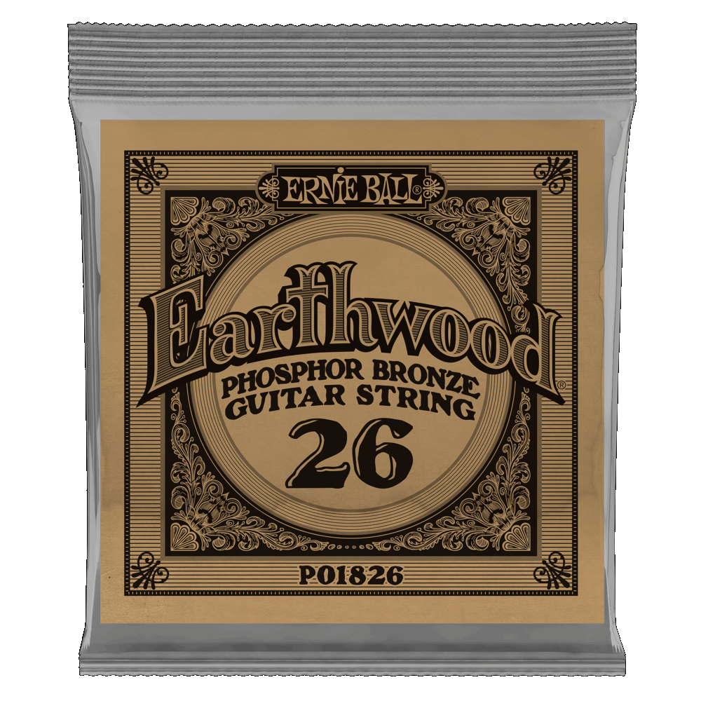 Ernie Ball Earthwood Phosphor Bronze Single Strings