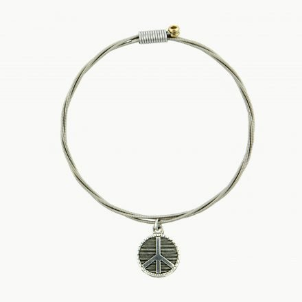 Strung Bracelet Peace Sign-Imagine