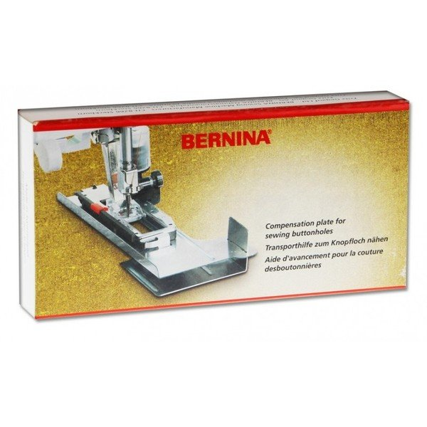 BERNINA FABRIC FEEDING AID PLATE BUTTONHOLE COMPENSATION