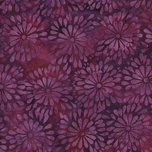 Batik, Island Batik, Coastal Mist, Round Petal Floral-Vino