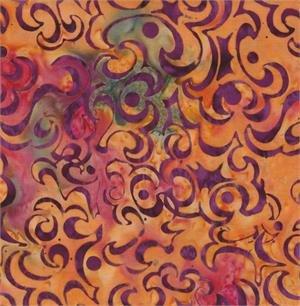 Batik, Batik Textiles, Gardening w Tutu, Multi Swirls Blender