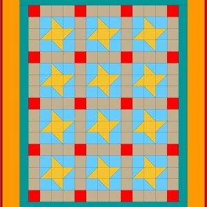 Tensisters Catch a Falling Star Pattern with Grid