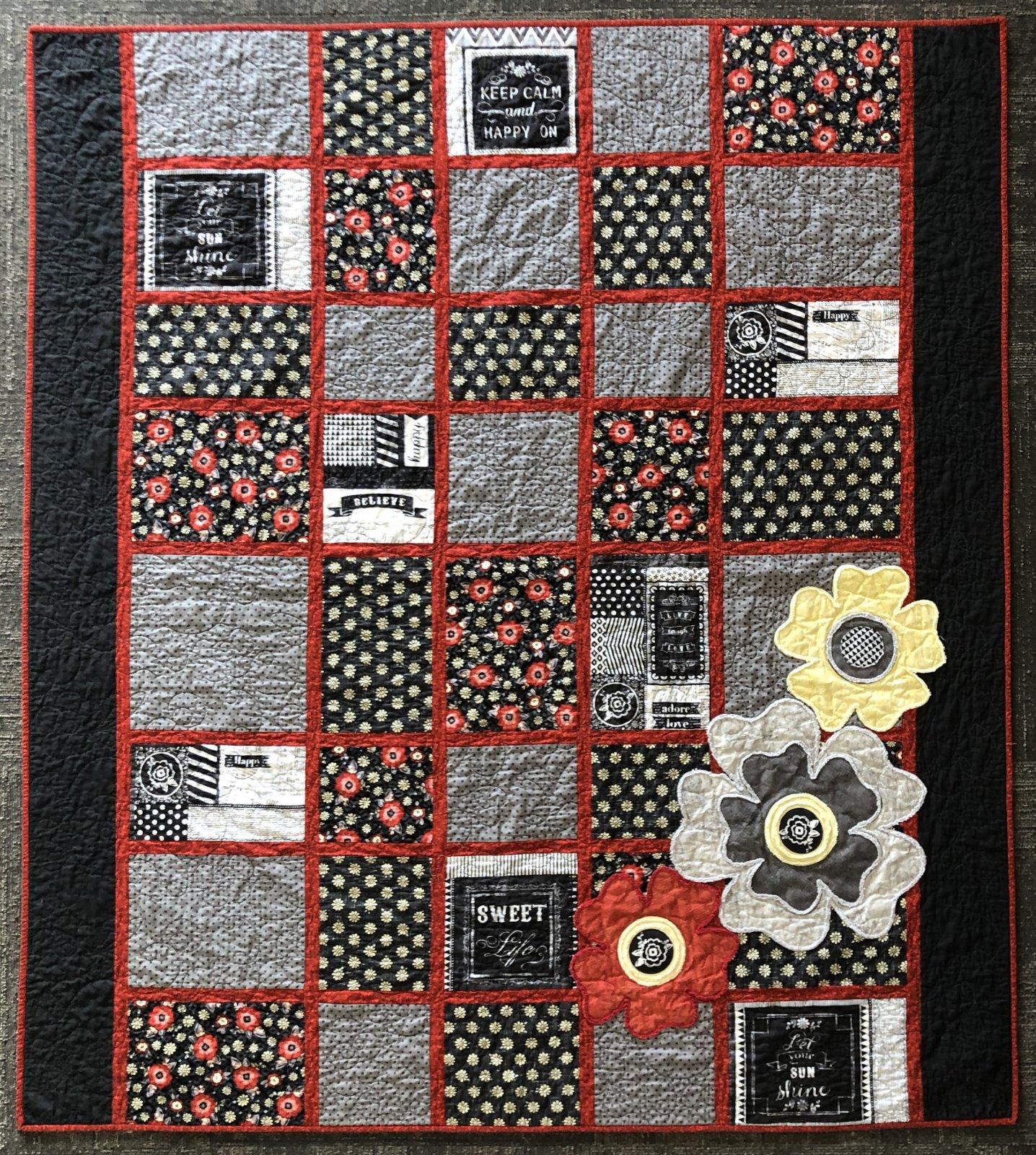 Adornit You & Me Chalk Chatter Quilt Kit 62 x 70