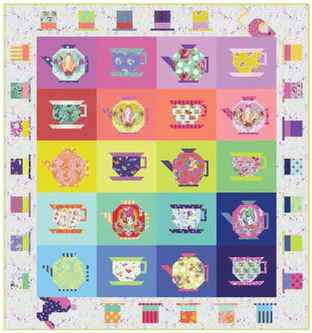 *PRE-ORDER* Mad Hatter Tea Party Quilt Kit 76 x 81