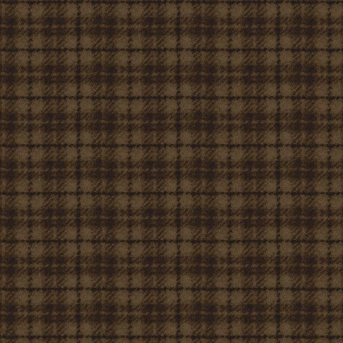Maywood, Woolies Flannel, Plaid, Dark Brown