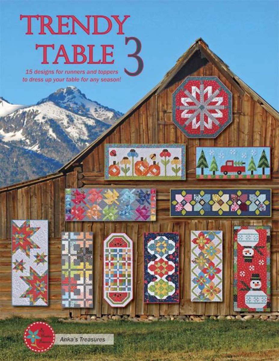 *PRE-ORDER* Pattern Book, Heather Peterson Trendy Table 3