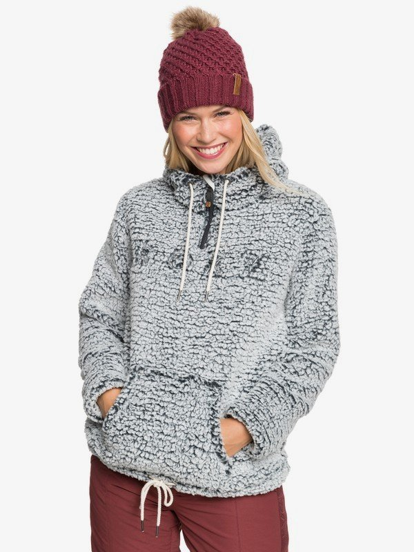 Roxy Pluma Sherpa Technical Half-Zip Hooded Fleece