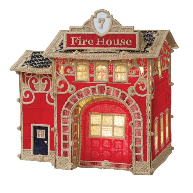 OESD Christmas Village Firehouse - 12647