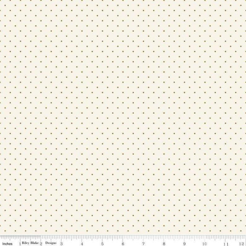 Mini Dot- Cream Sparkle