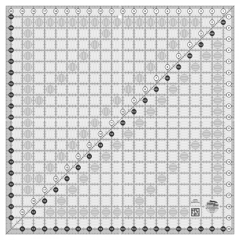 Creative Grids 20.5 X 20.5 Square Ruler
