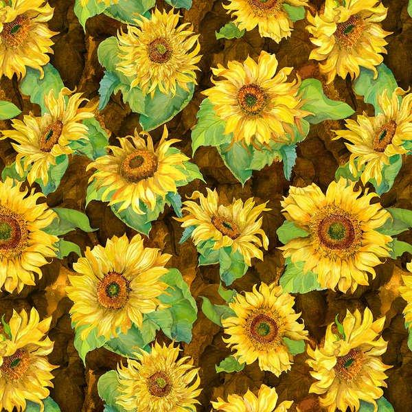 SLICE OF SUNSHINE -  Dark Brown Giant Sunflower